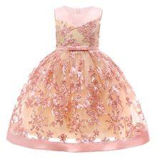 a89fd0cf01 Kwiat Dziewczyna Sukienki Na Wesele Korowód Sukienka Urodziny dla Dziewczyny  Maluch Junior Party Księżniczka Dziewczyna Sukienka