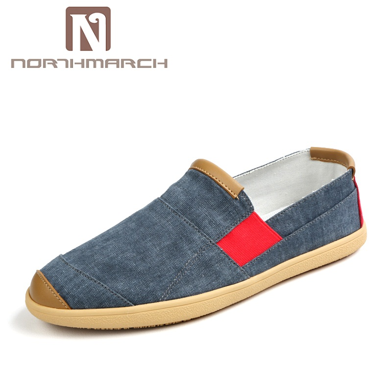 все цены на NORTHMARCH Summer Men Casual Shoes Luxury Brand Loafers Men Espadrilles Designer Fashion Slip On Canvas Shoes Man Human Race