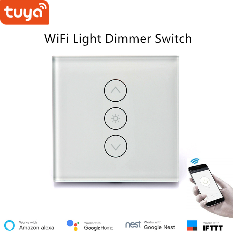 Tuya Remote Control Led Light Dimmer Switch Wifi Dimming Panel 110v 220v Google Home Compatible For Smart Ifttt In Automation Modules
