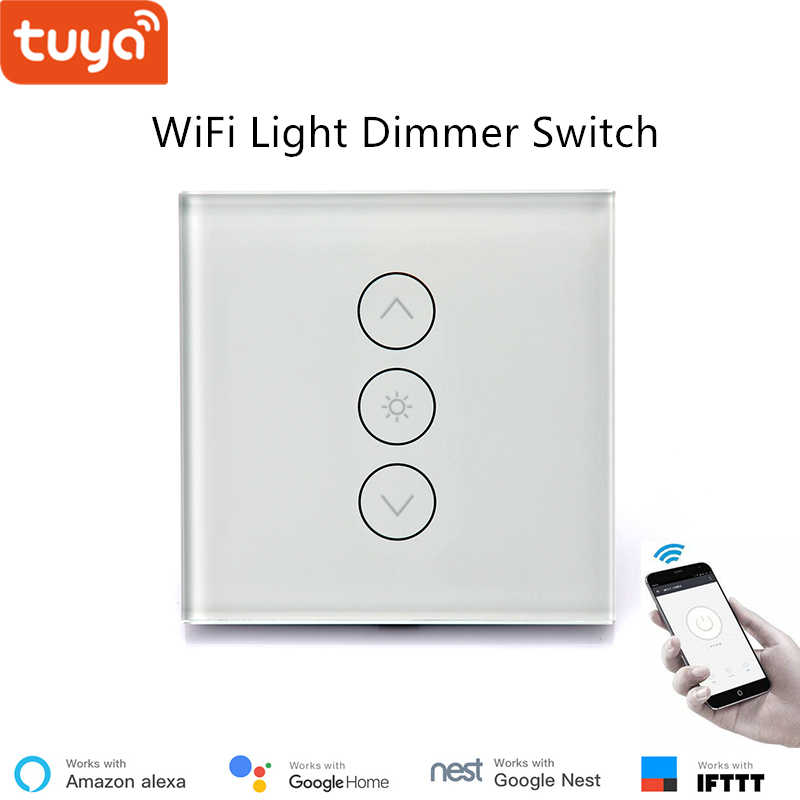 caa5f73746eb Tuya App remote control LED light dimmer switch wifi dimming panel switch  110V 220V google home