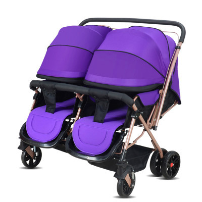 Twin stroller all peng can sit can lie, double fold two-way children baby bb bogie suspension