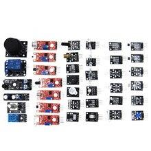 Комплект датчика 37 в 1 комплект датчика для/RRGB/джойстик/Фоточувствительный/Обнаружение звука/Предотвращение препятствий/зуммер