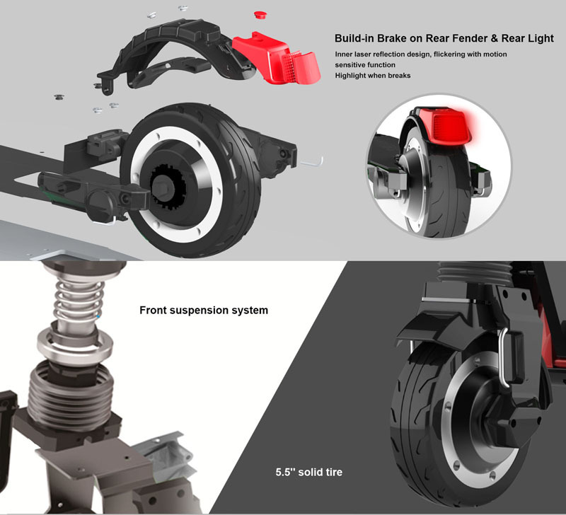 Flash Deal Dual Motors 2018 New Carbon Fiber Folding Electric Scooter Scooter Skateboard Bicycle Kick Scooter Powerful Electric Bicycle 7