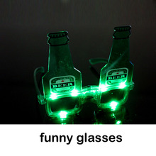new beer bottles flash glasses Halloween makeup party decorations eyewear supplies MFW-004