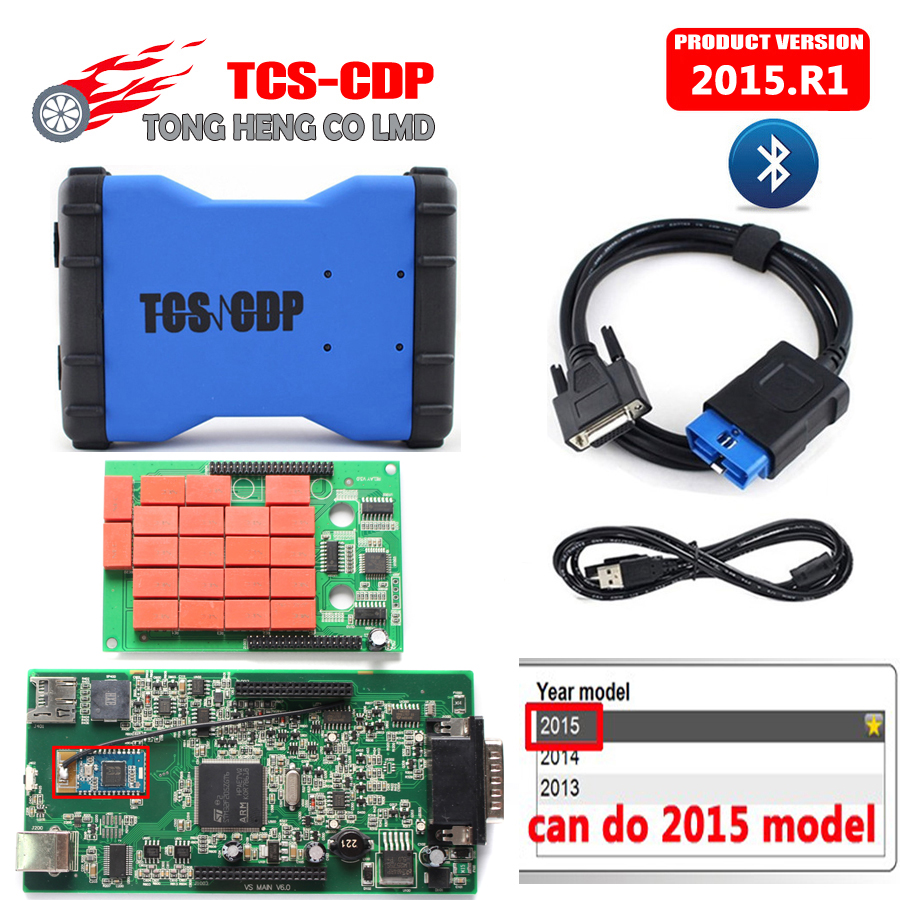 Prix pour Nouveau VCI TCS CDP pro plus avec Bluetooth Date 2015. R1 pas keygen peut faire 2015 modèle comme MVD Multidiag pro cdp 3in1
