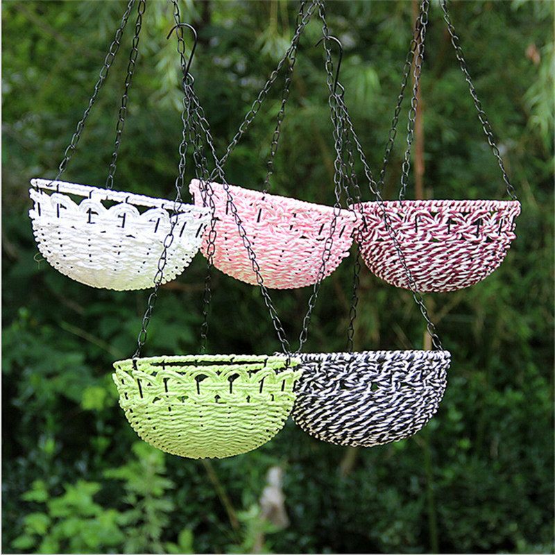 Decorative Hanging Flower Baskets : Buy wholesale rattan hanging baskets from china
