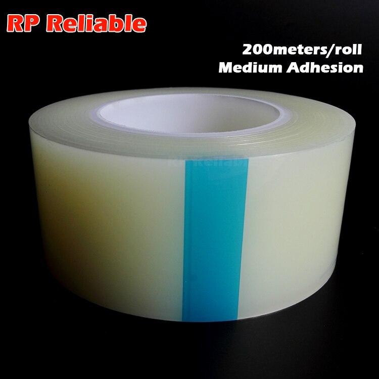 60mmx200Mx0.05mm Medium Adhesion Self Adhesive Protective PE Film for Plastic Case Decoration Panel Display Surface Protect Clea недорго, оригинальная цена