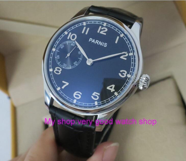 купить 44mm PARNIS Black dial Asian 6497 / ST3600 Mechanical Hand Wind men's watch Mechanical watches 186 по цене 4161.45 рублей