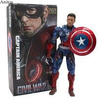 Avengers 3 Captain America CRAZY TOYS PVC Action Figure Collectible Models Toys 25cm KT2433