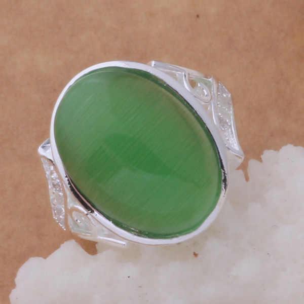 เงินสเตอร์ลิง925แหวนแฟชั่นเครื่องประดับแหวนผู้หญิงและผู้ชายสีหยก/efqamwxafvmaomtaar393