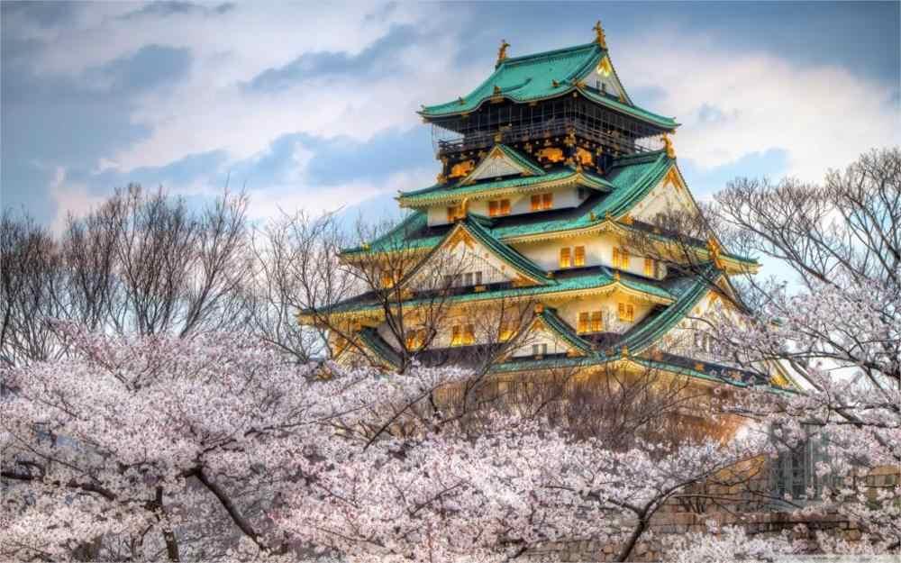 Фото Пейзажи замок в Осаке весна 4 размера украшения дома холст плакат Принт