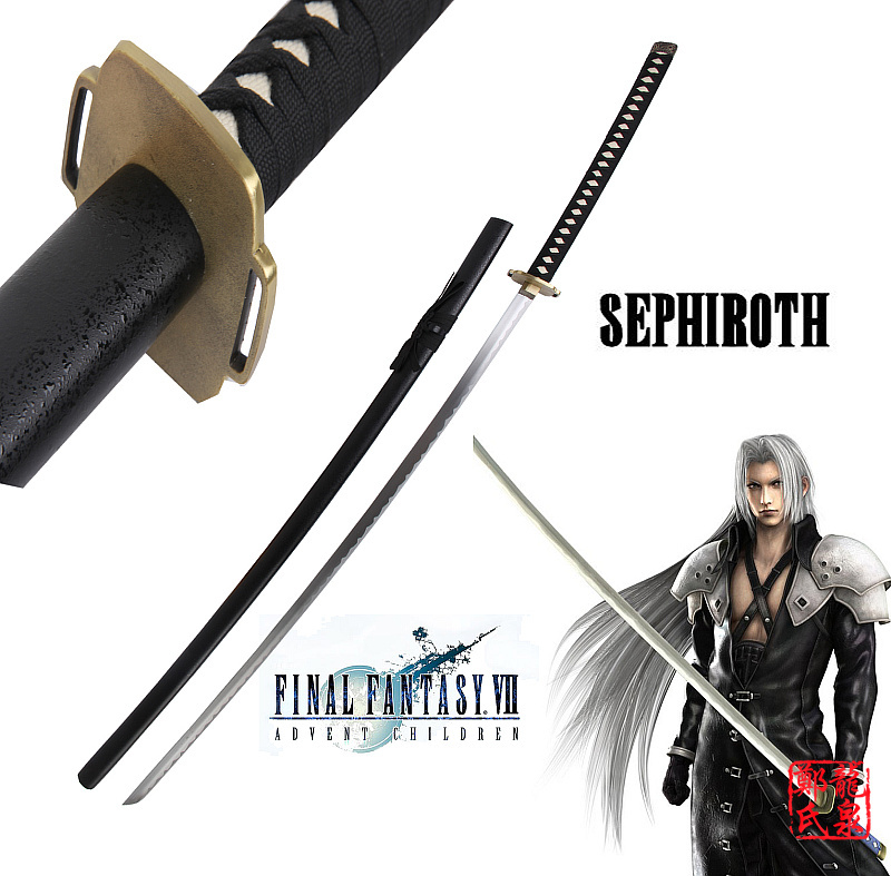 Us 106 25 15 Off For Final Fantasy Sword Real Carbon Steel Sephiroth Masumane Samurai Katana Christmas Decorative Cosplay Props No Sharp In Swords