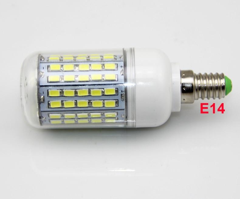 100X LED Licht Ultra heldere E14 E27 Led lampen Lamp Maïs 30 W SMD 5730 Met Cover 96 led Warm Wit Koel Wit 110 V/220 V - 5