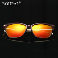 ROUPAI 2017 Original Sunglasses Women Luxury Brand Designer Polarized Coating Mirror Sun Glasses Vintage Men Shadow