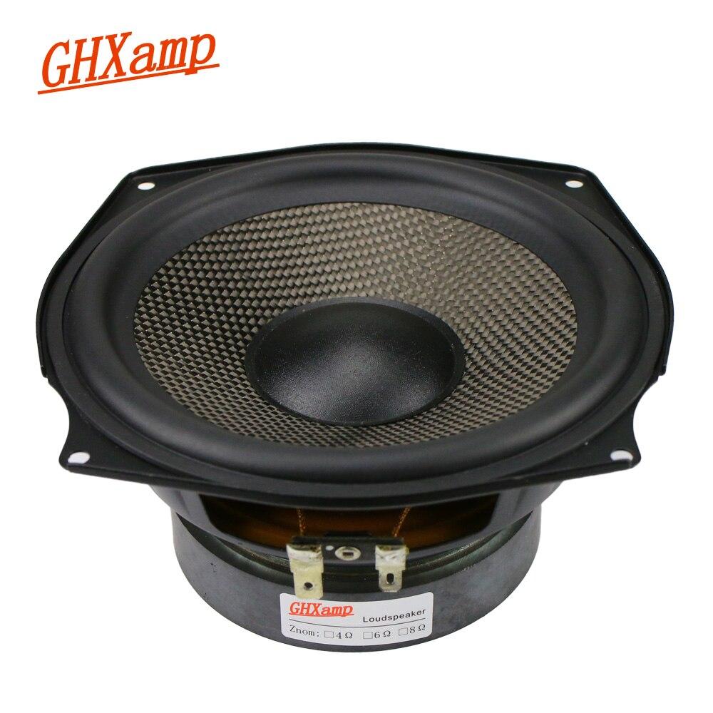 GHXAMP 100 inch Midrange Woofer Speaker 100ohm 100W Subwoofer Loudspeaker Home  Theater Woven Basin Rubber Edge 10pc