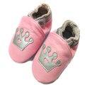 Zapatos de Bebé de Cuero genuino Mocasines 2015 Zapatos de Marca Zapatos de Bebé Lindo del Patrón de La Corona Bebé Andadores Petite Chaussure zapatillas