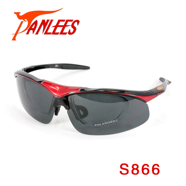 Hot Sales Panlees Prescription Sunglasses 4 Lens interchangeable Polarized Outdoor Sport Glasses RX Insert free shipping