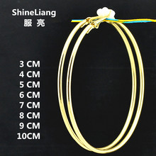 Shineliang 2018 Clip on ear Earrings without piercing no Hole For women female Gold Silver jewelry brand exaggerated big circle