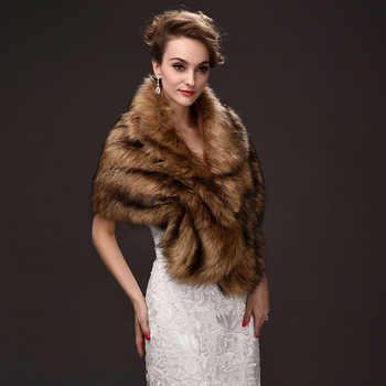 Popular Browns Faux Fur Stoles Wedding Bolero Women Winter Wedding Coat One Size Wedding Accessories 1 Piece Free Shipping - DISCOUNT ITEM  12% OFF Weddings & Events
