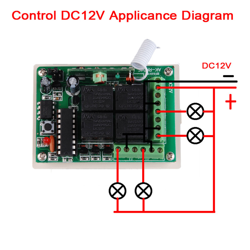 DC 12V 4 Channel 10A Relay Wireless Remote Control Switch AK RK04S On Off Switch Volt Wiring Diagram Remote on 12 volt horn wiring diagram, 12 volt 3 way switch diagram, boat wiring diagram, 8n 12 volt wiring diagram, 12v led turn signal wiring diagram, 12 volt switch repair, 12 volt camper wiring diagram, 12 volt dc to 24 volt dc wiring diagram, 11 pin timer wiring diagram, 12 volt toggle switch wiring, 12v relay diagram, 12 volt relay wiring diagrams, 12 volt switch installation, basic ignition wiring diagram, on off on toggle switch diagram, trans am wiring diagram, 12 volt starter wiring diagram, farmall 12 volt wiring diagram, 12 volt marine wiring diagram, 12 volt switch cover,