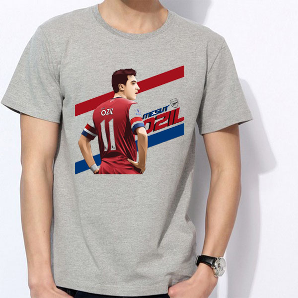 new product e28ed f9811 US $13.29 5% OFF|Men's Short sleeve t shirt Mesut Ozil Arsenal Germany 10  11 Stadium 100% cotton tshirt jersey fan-in T-Shirts from Men's Clothing on  ...