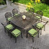 9 piece cast aluminum patio furniture garden furniture Outdoor furniture transport by sea