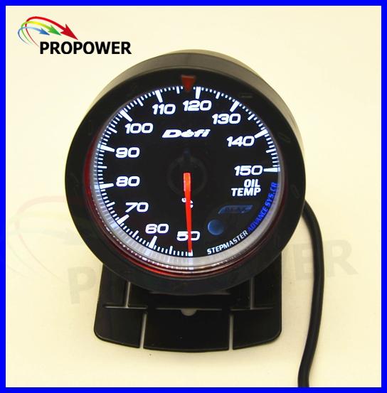 """2.5 """"60 MM DF Avanço CR Bitola Métrica Medidor De Temperatura do Óleo C Graus Cara Preta Com Sensor/AUTO BITOLA"""