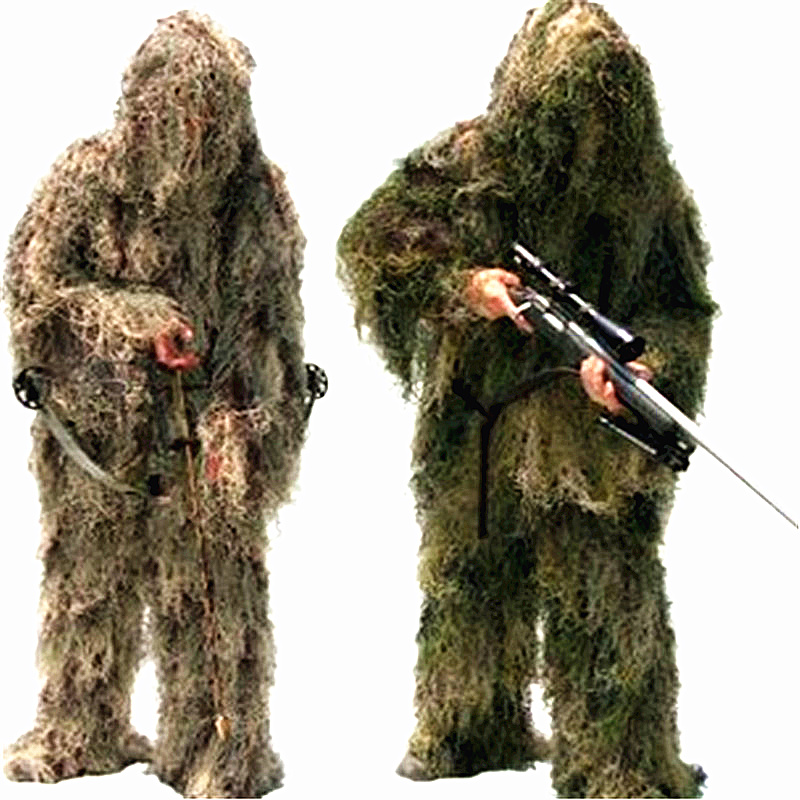 Outdoor Hunting Ghillie Suit 3D Bionic Army Airsoft Uniform Sniper Hunting Clothes Camouflage Ghillie Suit Clothing for Hunting woman outdoor hunting quick dry long t shirt ghillie camouflage army military shirt woman sniper print clothes