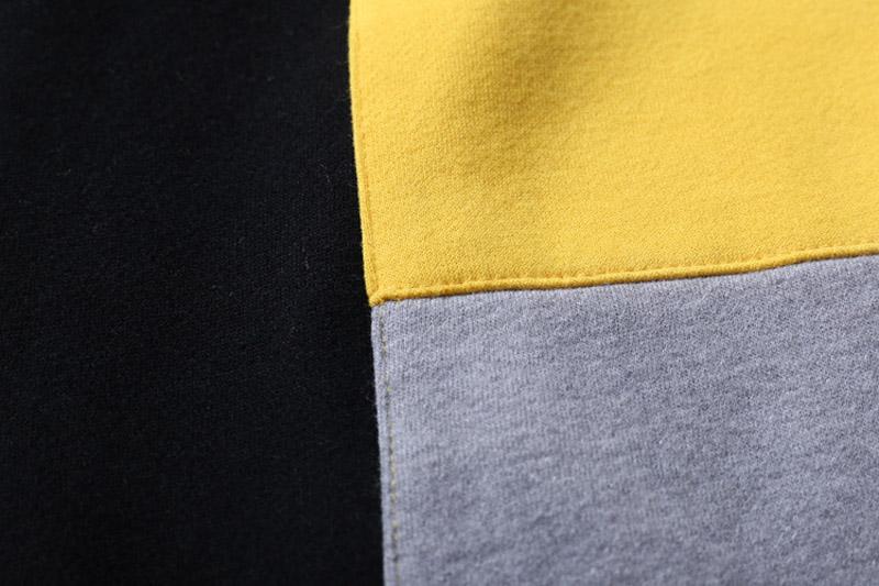 Color Block Patchwork Fleece Hoodies 7