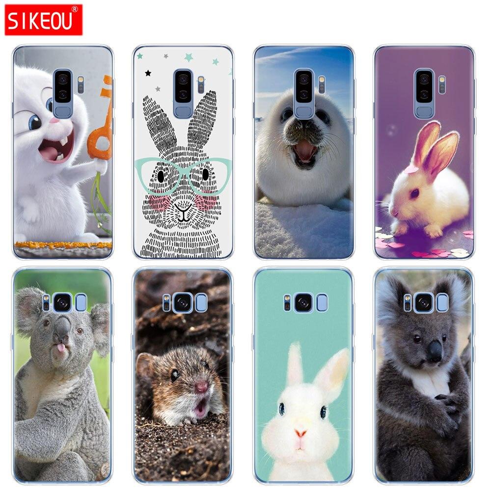 Funda de silicona para Samsung Galaxy S9 S8 S7 S6 borde S5 S4 S3 PLUS teléfono cubierta de los animales,
