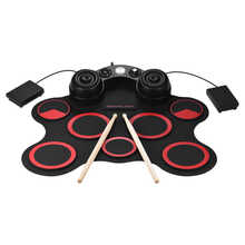 Stereo Electronic Drum Set 7 Silicon Electronics Drum Pads Built-in Speakers USB Recording Function with Drumsticks Pedals - DISCOUNT ITEM  38% OFF Sports & Entertainment