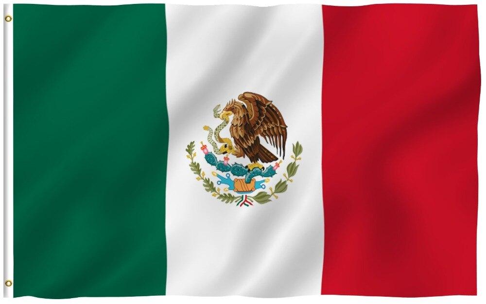 Johnin 90*150 cm mx mex Mexicanos mexique drapeau Pour La Décoration