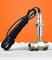 Жидкость Турбины расходомер тестер Сенсор передатчик LWGY 15 резьбовых соединений 12 В 24 В расходомер счетчик индикатор DN15 G1