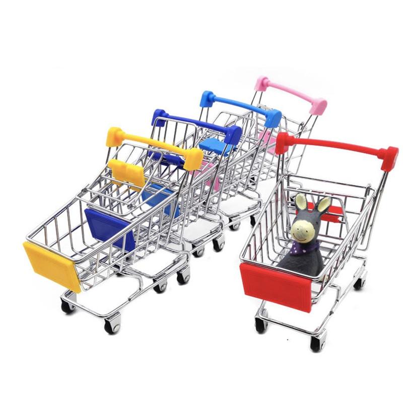 47a55acd0 Creative Mini Shopping Cart Basket Storage Toys Handcart Phone Holder Shopping  Cart Children Toy Cute Home Organizer