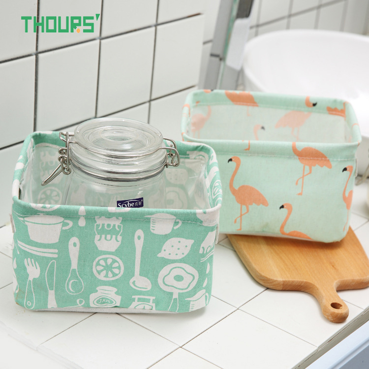 Thours Desktop Storage Basket Sundries Underwear Toys Bax Cosmetics Small Items Finishing Container Makeup Organizer Case in Storage Baskets from Home Garden