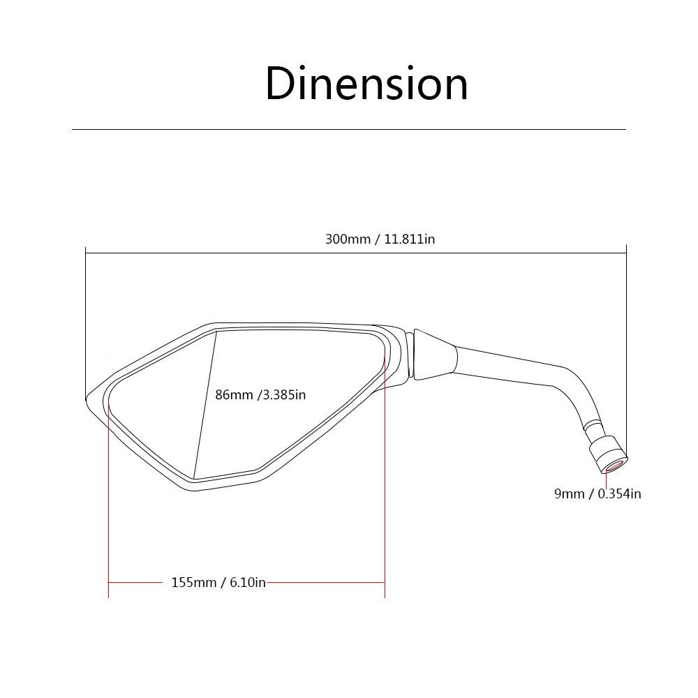 Universal 8mm 10mm Motorcycle Rearview Side Mirror For Kawasaki Ninja 650r Engine Diagram Er 6f 6n Er6f Er6n Ninja300 Yamaha Fz8 Mt03 Mt07 In Mirrors Accessories