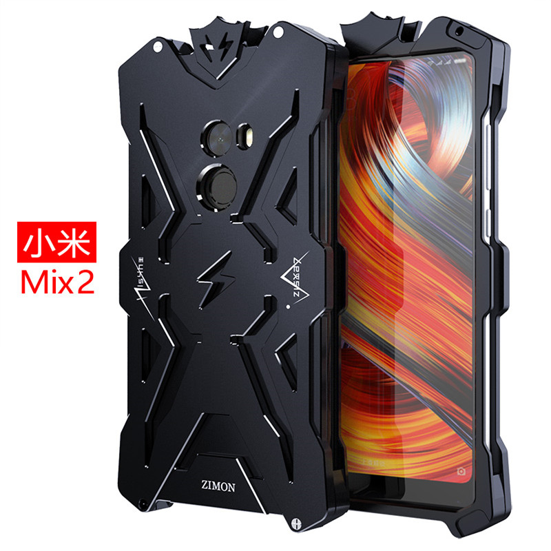 Zimon Luxury Doom Heavy Duty Shock Armor THOR Metal Aluminum Phone Protect Cases For Xiaomi mi note 3 mix 2 Redmi Note 5A Cover