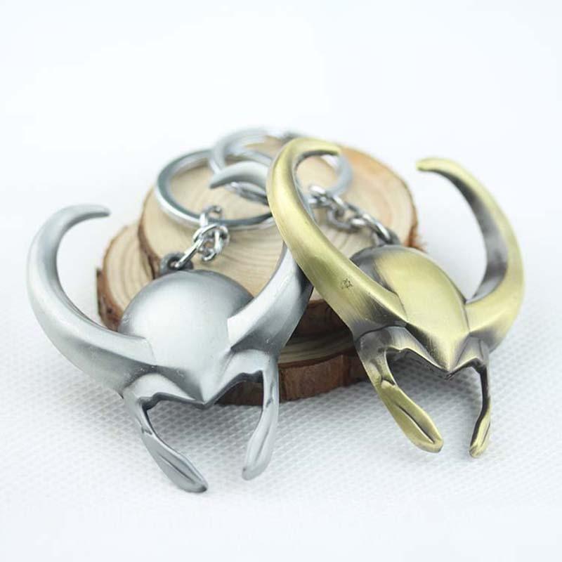 Suficiente Avengers THE GOD OF THUNDER Thor Loki Keychain Charm Key Chain  HF15