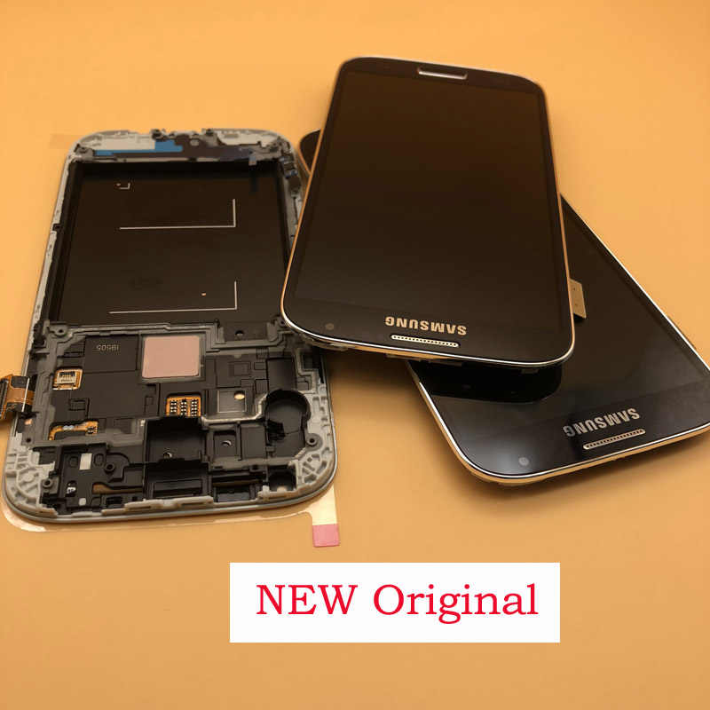 الأصلي 5.0 ''AMOLED عرض ل سامسونج غالاكسي S4 LCD GT-i9505 i9500 i9505 i9506 i337 محول الأرقام بشاشة تعمل بلمس مع الإطار