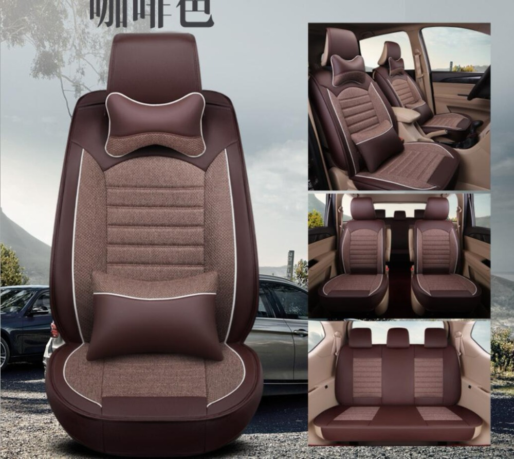 Universal flax Leather car seat covers For Toyota Corolla Camry Rav4 Auris Prius Yalis Avensis SUV auto accessories car sticksUniversal flax Leather car seat covers For Toyota Corolla Camry Rav4 Auris Prius Yalis Avensis SUV auto accessories car sticks