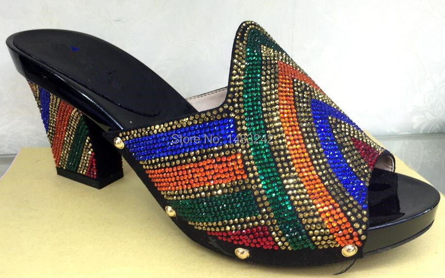 ФОТО Free Shipping!! NO.18-5,black color Nigeria New arrival fashion nice matching lady shoes size 38 to 43 for retail and wholesale