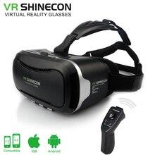 Caja de 2.0 gafas de realidad virtual shinecon ii vr vr shinecon gafas 3d google cartón para 4.5-6.0 pulgadas smartphone