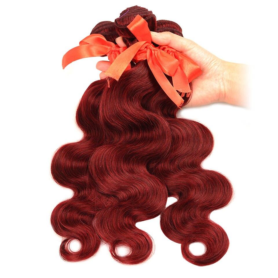 HTB1N P3cQfb uJkSnfoq6z epXaM Pinshair 99J Hair Red Burgundy Bundles With Closure Brazilian Body Wave Human Hair Weave Bundles With Closure Non Remy No Tangle