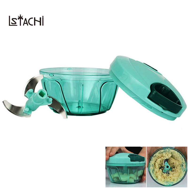 LSTACHi Powerful Manual Meat Grinder Hand-power Food Chopper Mincer Mixer Blender to Chop Meat Fruit Vegetable Nuts Herbs
