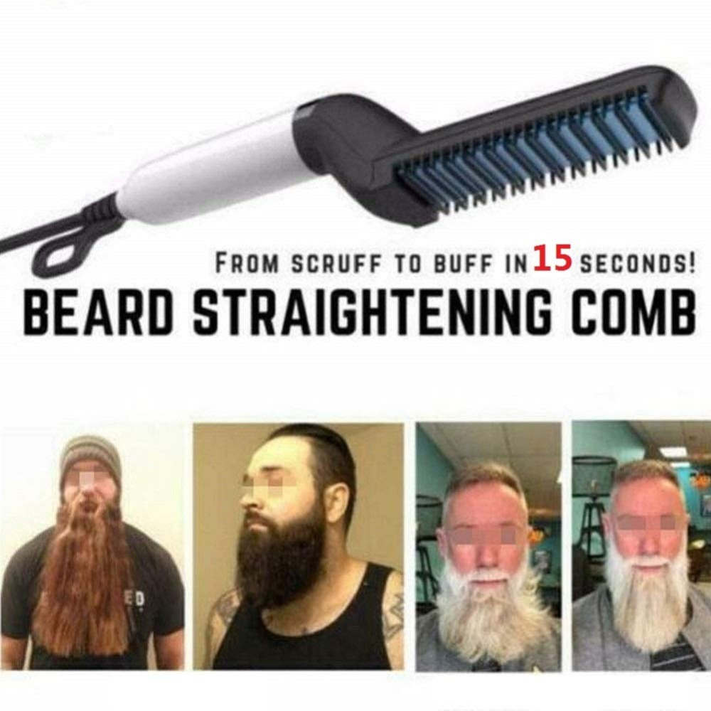 men Beard Hair Straightener Brush (10)