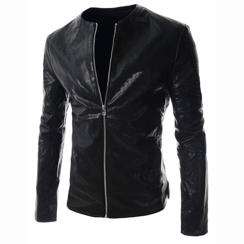 Jackets Coat Winter Casual Slim Fashion Pu Stand 17 Outwear Cool-Stand-Collar Locomot