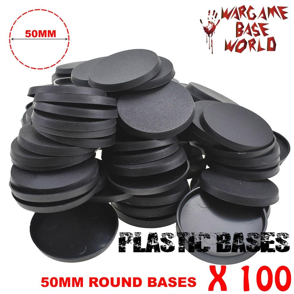 100 Pcs 50mm Round Plastic Bases For Zhanchui Miniatures