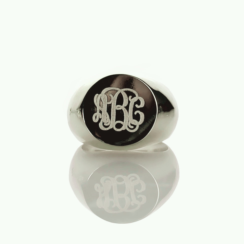 все цены на AILIN Personalized Sterling Silver Monogram Rings Engraved 3 Monogrammed Initials Ring Name Rings