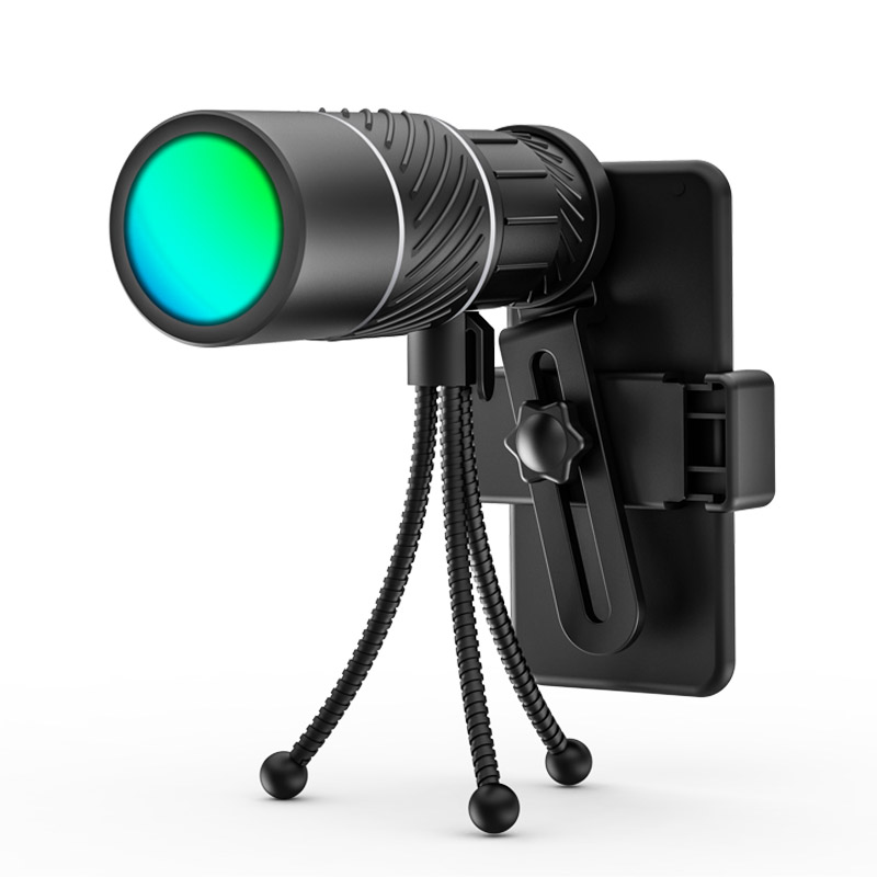 16x52 Outdoor Waterproof Monocular HD Optic BAK4 Day Vision Telescope 66m/8000m High Definition Optical Telescope Monoculars