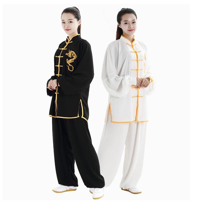 Форма для боевых СТВ, костюмы кунг фу с длинным рукавом, одежда Тай Чи, китайские традиционные народные уличные прогулки тайцзи|Наборы| | АлиЭкспресс